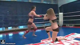 Wild teen girls wrestling