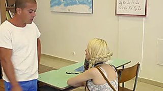 Hard sex in school with tattooed teen Arteya and teacher