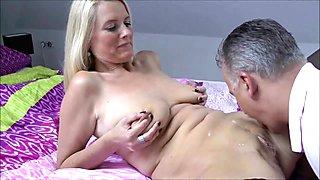 Blonde MILF cuckolding her hubby