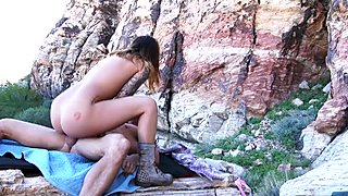 Tattoed babe Karmen Karma fuck outdoors