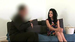 FakeAgent Horny Romanian babe sucks and fucks