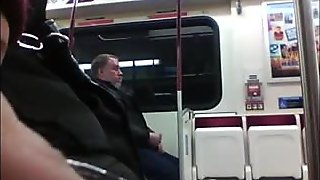 Man caught jacking in a public train