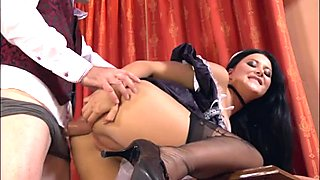 Euro maid is stunningly hot when she gets ass fucked