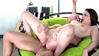 Cock sucking cum swallowing slut is addicted to big cock