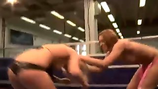 Hot young lesbians fighting