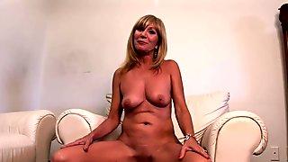 hot cougar gets naked