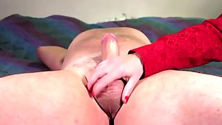 Thick Cock Stroke With After Cum Action
