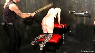 Hardcore bondage session for two submissive slave sluts