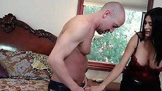 Slutty Mom Watches StepDaugter Fuck While Masturbating