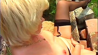 Young cock for old blonde